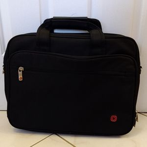 Black laptop bag with handles
